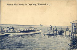 Steamer May, starting for Cape May