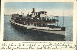 Steamer Merrimac Departing