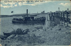 Steamer Carlotta Leaving Pier at Little Neck