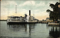 Steamboat Columbia landing at Dock