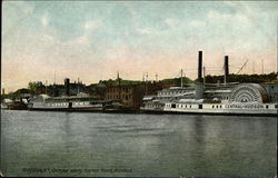 Glimpse along Harbor Front, Rondout Postcard