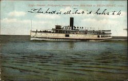 Steamer Bridgeport, running from New York