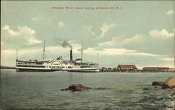 Steamer Block Island Landing at Watch Hill