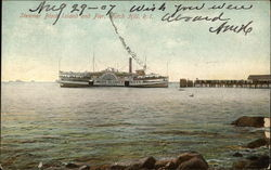 Steamer Block Island and Pier