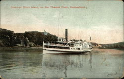 Steamer Block Island on the Thames River