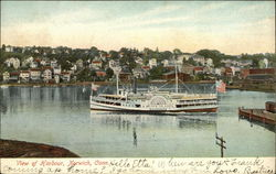 View of Harbour with Block Island Steamer