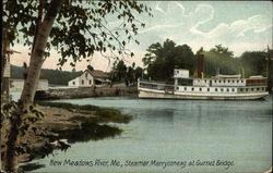 Steamer Merryconeag at Gurnet Bridge