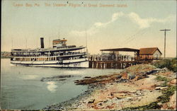 The Steamer Pilgrim at Great Diamond Island