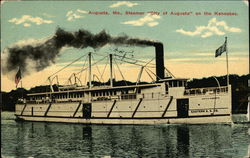"Steamer ""City of Augusta"" on the Kennebec"