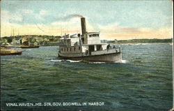 Steamer Governor Bodwell in Harbor