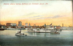 Steamer Louise Leaving Baltimore for Tolchester Beach Postcard