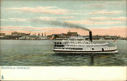 Steamer in Norfolk Harbor