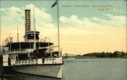 "Steamer ""Little Silver"" approaching Pier"