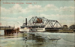 Shrewsbury River Drawbridge Postcard