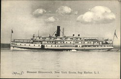 Steamer Shinnecock on the Water