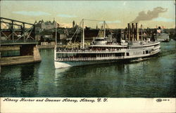 Albany Harbor and Steamer Albany