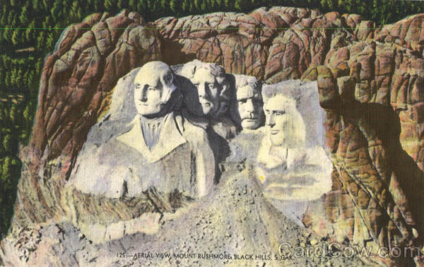 Aerial View Mount Rushmore Black Hills South Dakota