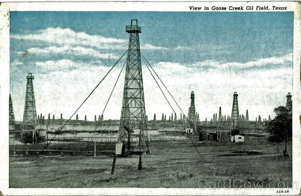 View In Goose Creek Oil Field Scenic Texas Oil Wells
