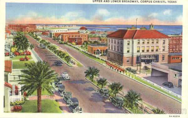 Upper And Lower Broadway Corpus Christi Texas