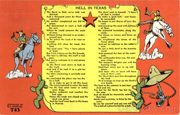 Hell In Texas Scenic Poems