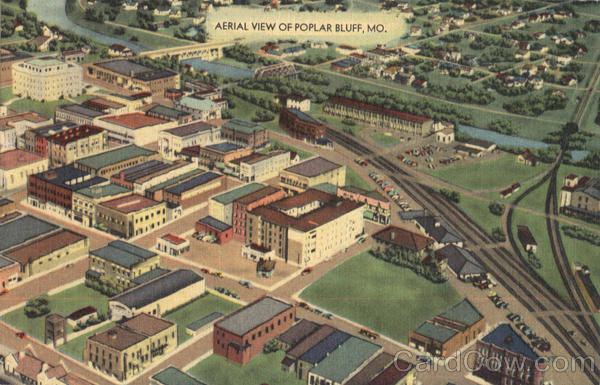 Aerial View Of Popular Bluff Poplar Bluff Missouri