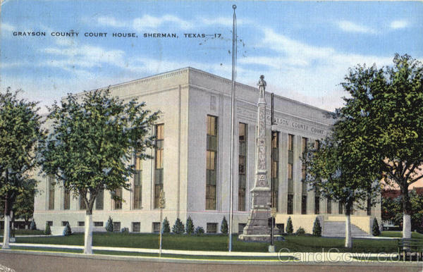 Grayson County Court House Sherman Texas