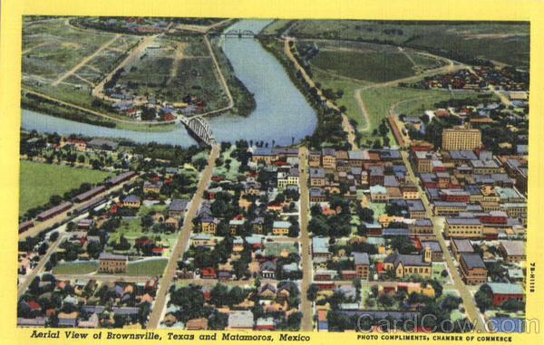 Aerial View Of Brownsville Texas