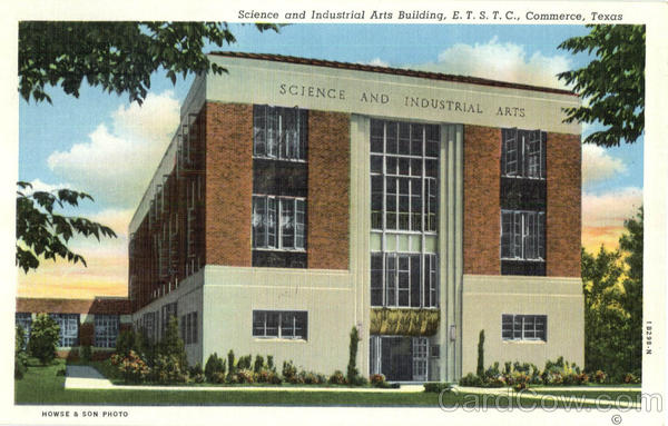 Science And Industrial Arts Building Commerce Texas