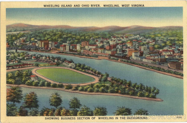 Wheeling Island And Ohio River, Oglelbay Park West Virginia