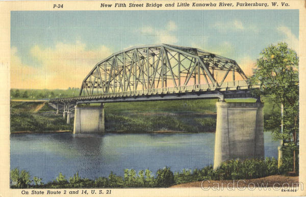 New Fifth Street Bridge And Little Kanawha River Parkersburg West Virginia