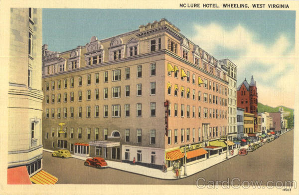 Mclure Hotel Wheeling West Virginia