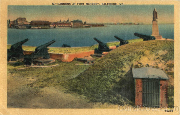Cannons At Fort Mchenry Baltimore Maryland