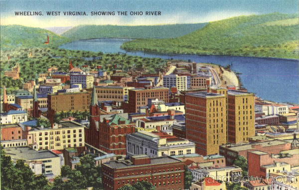 Showing The Ohio River Wheeling West Virginia