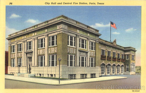 City Hall And Central Fire Station Paris Texas