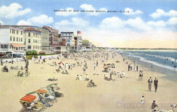 Bathers At Old Orchard Beach Maine