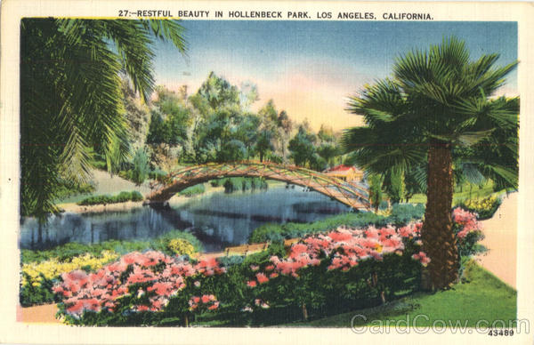 Restful Beauty In Hollenbeck Park Los Angeles California