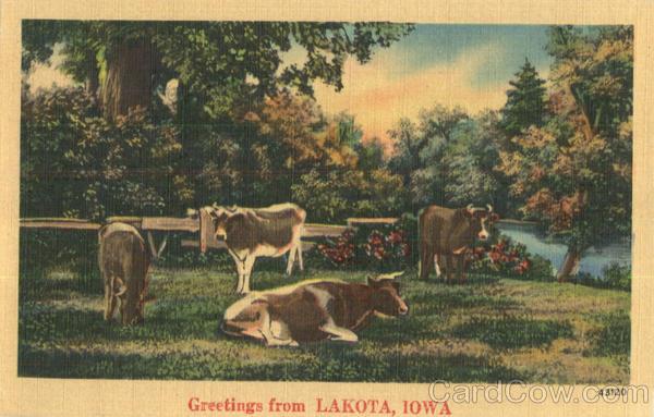 Greetings From Lakota Iowa