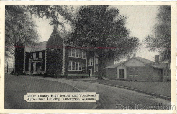 Coffee County High School And Vocational Agriculture Building Enterprise Alabama
