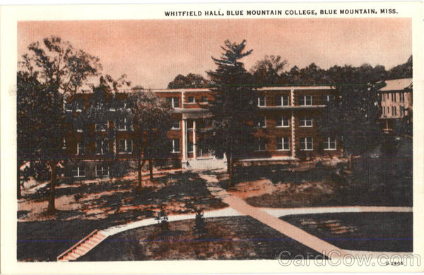 Whitfield Hall, Blue Mountain College Mississippi
