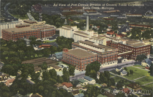 Air View Of Post Cereals Division Of General Foods Corporation Battle Creek Michigan