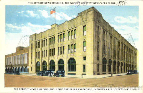 The Detroit News Building Michigan