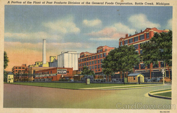A Portion Of The Plant Of Plant Of Post Products Division Of The General Foods Corporation Battle Creek