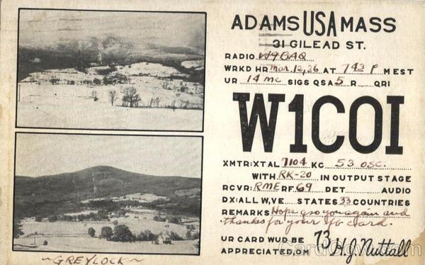 Adams Use Mass, 31 Gilead St Greylock Massachusetts