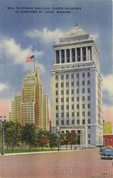 Bell Telephone And Civil Courts Buildings In Downtown St. Louis Missouri