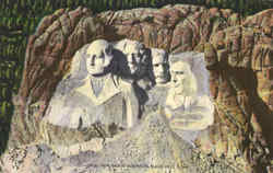 Aerial View Mount Rushmore