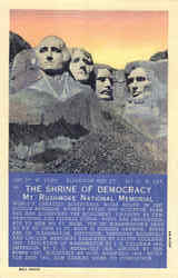 The Shrine Of Democracy Mt. Rushmore National Memorial