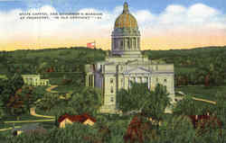 State Capitol And Governor's Mansion At Frankfort Postcard