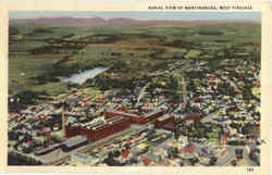 Aerial View Of Martinsburg Postcard