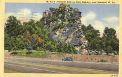 Pinnacle Rock On State Highway Near Bluefield