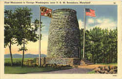 First Monument To George Washington Postcard